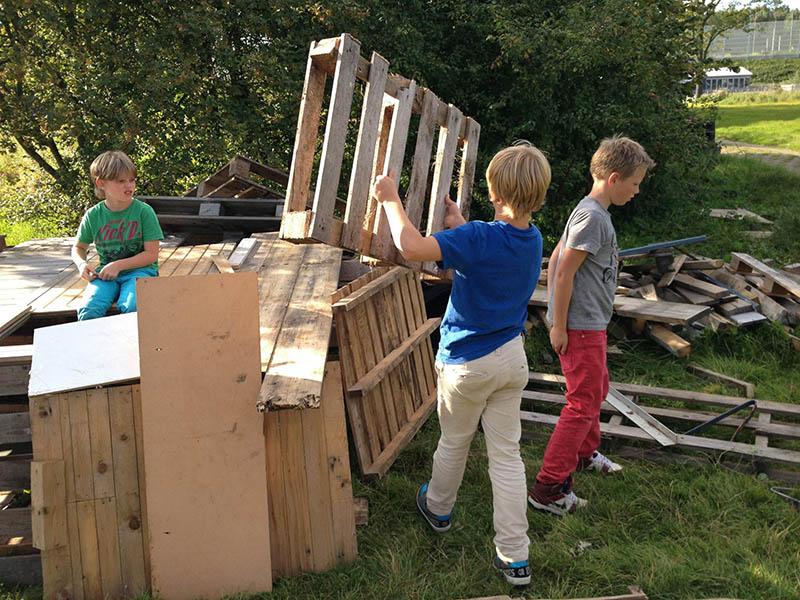 hutten bouwen bso buitenkans kinderopvang